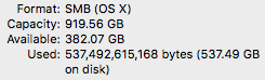 XARTS Network Drive Info Mac